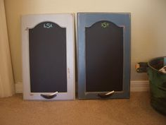 Turn two of my cupboards at my back door into chalkboards - use one for reminders and the other for a shopping list