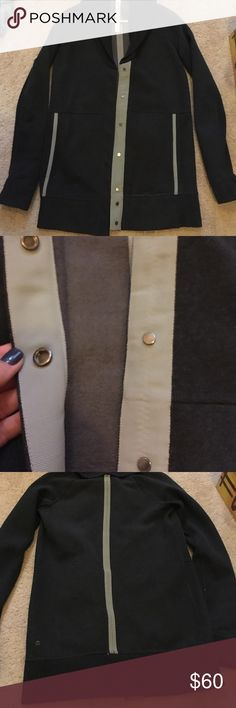 Lululemon jacket Thick lululemon jacket. Dark grey with light grey details. Like new. Beautiful. Big pockets. lululemon athletica Jackets & Coats