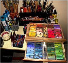 My pastel set . Pasztellkrétám