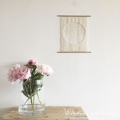 circle Weaving Art, Fiber Art, Elsa, Glass Vase, Flowers, Instagram Posts, String Art, Floral, Royal Icing Flowers