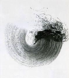 Won Sou-Yeol. Sans titre, Technique mixte sur toile, A broken cycle Modern Art, Contemporary Art, Wal Art, Art Watercolor, Mark Making, Calligraphy Art, Minimalist Art, Art Plastique, Brush Strokes
