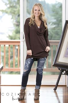 Cowl Neck Tunic | Perfect for Fall! | Jane