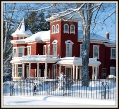 #Stephen Kings home in the winter in Bangor, Maine  #Travel Maine USA multicityworldtravel.com We cover the world over 220 countries, 26 languages and 120 currencies Hotel and Flight deals.guarantee the best price