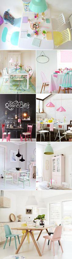 @Camille Blais Viger j'espère qu'on a assez de peinture turquoise pour faire comme les chaises sur cette photo ! pour terrasse