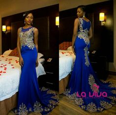 African Prom Dresses, Latest African Fashion Dresses, Prom Dresses Blue, Mermaid Dresses, Bridal Dresses, African Wedding Attire, African Attire, Nigerian Outfits, Africa Dress