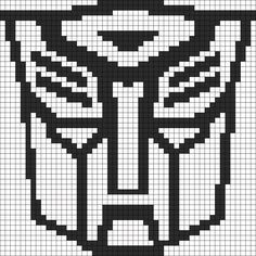 Transformers Autobot Symbol Perler Bead Pattern | Bead Sprites | Characters Fuse Bead Patterns