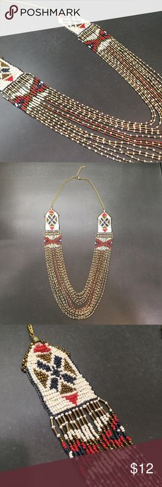 Boho Beaded Necklace Fun boho style beaded necklace. Only worn once! Maurices Jewelry Necklaces