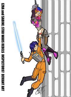 Ezra and Sabine: STAR WARS REBELS by Inspector97.deviantart.com on @deviantART