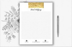 Luxury Letterhead Template  DIY Stationery  Gold Stationery