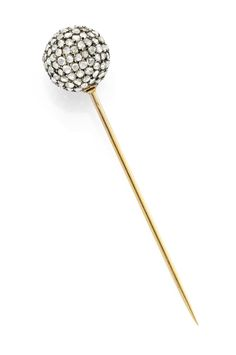 An Antique Rose-Cut Diamond Stick Pin, circa 1860s. Available at FD Gallery. www.fd-inspired.com