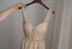 Champagne Chiffon Bridesmaid dress, $85.99