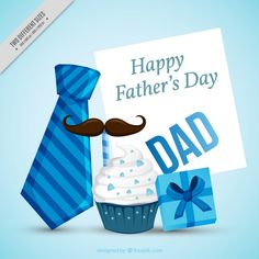 Father's day background with decorative items in blue tones Free Vector Happy Fathers Day Message, Fathers Day Wishes, Flower Background Wallpaper, Flower Backgrounds, Alphabet Stencils, Vector Freepik, Blue Tones, Happy Day, Cookie Decorating