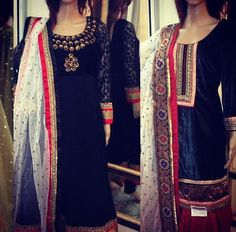 White and blue punjabi suit. Maiyaan suit idea with red ghagra would look amazing