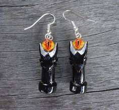 Eye of Sauron Earrings  Lord of the Rings by Geeekalicious on Etsy, $18.00