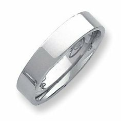 Palladium Flat Comfort Fit 5.00mm Band Ring - Size 11 - JewelryWeb JewelryWeb. $579.60. Save 50% Off!