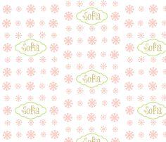 Snowflakes snow petal-personalized fabric by drapestudio on Spoonflower - custom fabric