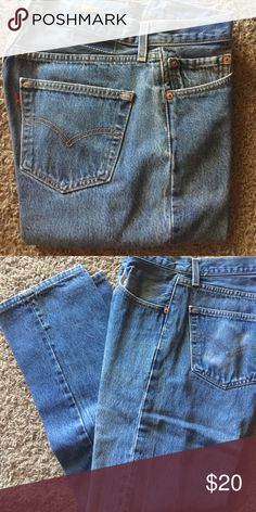 """LEVIS Raw Denim 501's made in the USA 34 waist x 33 inseam tag on waistband missing as pictureda and keep in mind 501's are """"Shrink to Fit"""" so a 34 waist is about 32 1/2"""" after washing and length is about 1/2""""-1"""" shorter Levi's Jeans Straight"""