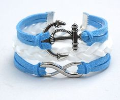 Pick COLOR/SIZE  Nautical Anchor / Infinity Charm by BeMyCharm, $11.50
