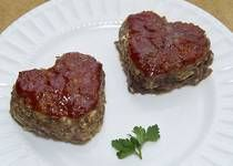 Heart Shaped Valentine's Meatloaf Recipe.