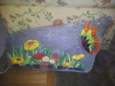 Paisaje hecho con mosaicos