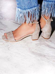 Suede block heels.