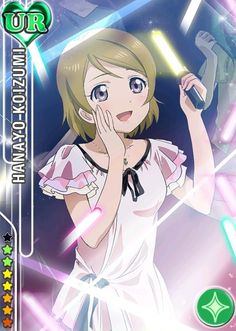 my very first (yolo rolled) UR... ; u ; HANAYO BB <3