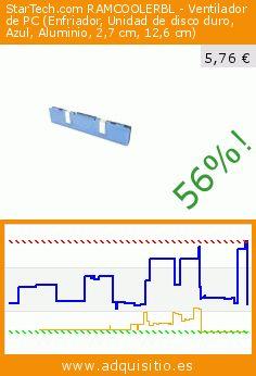 StarTech.com RAMCOOLERBL - Ventilador de PC (Enfriador, Unidad de disco duro, Azul, Aluminio, 2,7 cm, 12,6 cm) (Ordenadores personales). Baja 56%! Precio actual 5,76 €, el precio anterior fue de 13,02 €. https://www.adquisitio.es/fabricado-marca/startechcom-ddr-sdram