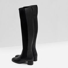COMBINED LEATHER BOOT-View all-Shoes-WOMAN | ZARA United States