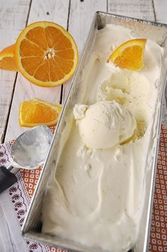 No Churn Orange Ice Cream  |  Your Homebased Mom