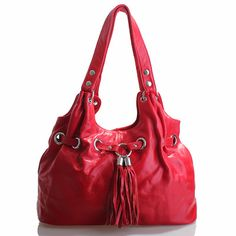 Justina - Red soft leather handbag was $320 now $139.95