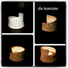 Litt av hvert: DIY lysestake av leire, nice candleholder
