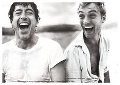 """Oh my God, now this is just joyous. :D (Robert Downey, Jr. & Jude Law)"" - This is powerful."
