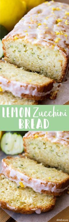 This easy zucchini bread recipe has a lemon bread twist to it, making it the perfect quick bread for spring and summer! Seriously, lemon zucchini bread is going to be your newest summer dessert obsession! Lemon Zucchini Bread, Lemon Bread, Zucchini Bread Recipes, Recipe Zucchini, Zucchini Casserole, Healthy Zucchini, Zucchini Cake, Casserole Recipes, Delicious Desserts