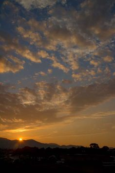 """""""Sunset""""  20.Sep.2014  今日から少しの間、お世話になる夕景。綺麗に染まった初日。"""