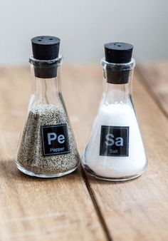 chemistry salt and pepper shakers http://rstyle.me/n/mda9ipdpe                                                                                                                                                                                 More
