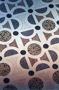 // Terrazzo floor by Farley Tobin