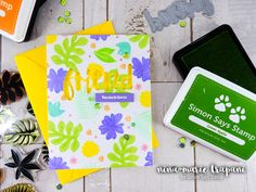 Studio Monday with Nina-Marie: Stamp Layering with Pantone Green