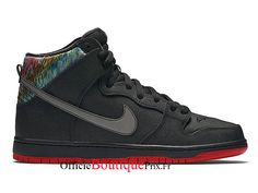 "Nike SB Dunk High Premium SB ""Black"" 313171-028 Chaussure Nike Sneaker Prix Pour Homme - 313171-028 - Boutique Sneakers Officielle Pas Cher (FR) Basket Nike Air, Baskets Nike, Nike Air Max, Nike Sb, Yeezy, Adidas, Sport, Nike Free, Sneakers Nike"