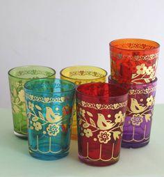 souk rainbow glasses by posh totty designs interiors | notonthehighstreet.com