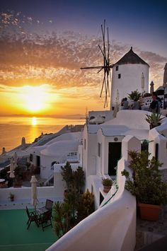 Beautiful Oia at sunset, Santorini