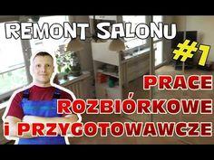 Prace rozbiórkowe i przygotowawcze - Remont salonu #1 - YouTube Youtube, Living Room, Youtubers, Youtube Movies