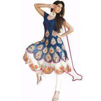 Janasya Blue,Wine Georgette Embroidered Salwar Suit For Women