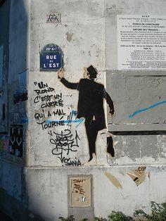Belleville quarter, rue de l'Est & rue des Pyrénées crossraods, Paris XX. Paris City, Paris Street, Urban Street Art, Urban Art, Belleville Paris, Street Art Banksy, East Street, Graffiti Wall, Jolie Photo