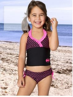 Meredith's (Summer 2015) swimsuit.  She chose Batman/Batgirl over Wonder Woman and Supergirl!  So cute!