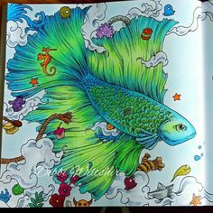 First fish from animorphia  #animorphia #kerbyrosanes #adultcoloringbook #adultcolouringbooks