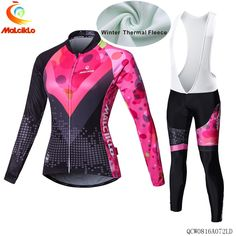 85.00$  Watch here - http://alig51.worldwells.pw/go.php?t=32732700301 - 2017 new malciklo Winter Fleece Cycling Jersey Women's Long Sleeve Bicycle Cycling Clothing outdoor bike cycling 85.00$