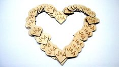 100 personalized wood hearts. These are perfect for your wedding day, Valentine's Day, favor bag tags.