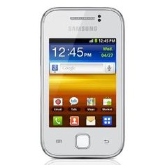 Samsung GT-S5630L Galaxy Y Unlocked Quad-Band 3G GSM Phone with Android OS, 3-Inch Touchscreen, 2MP Camera, Wi-Fi and GPS - US Warranty - White  http://proxyf.net/go.php?u=/Samsung-GT-S5630L-Unlocked-Quad-Band-Touchscreen/dp/B00766BFHS/