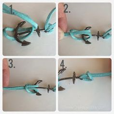Chalkboard Blue: How to make an Anchor Charm Bracelet