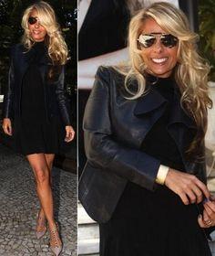 Look black Adriane Galisteu. Moda feminina